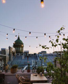 god udsigt fra terrasse på taget